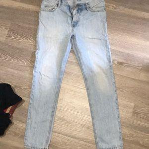 H&M light denim wash jeans
